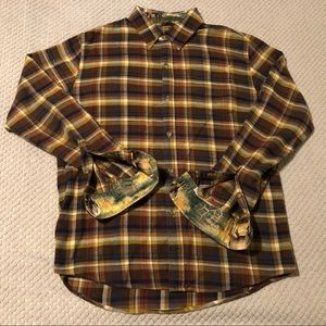 Pladra Casual Button Front Elk Lined Flannel Shirt